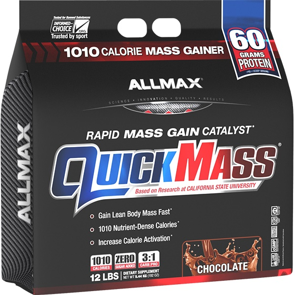AllMax Nutrition Quickmass, Strawberry & Banana - 5440g