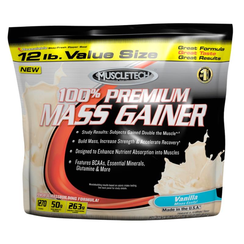 100% Premium Mass Gainer, Vanilla - 5400g versandkostenfrei/portofrei bestellen/kaufen