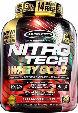 Nitro-Tech 100% Whey Gold, French Vanilla - 2720g versandkostenfrei/portofrei bestellen/kaufen