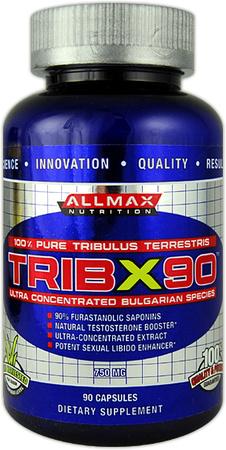 AllMax Nutrition Trib X90, 750mg - 90 caps