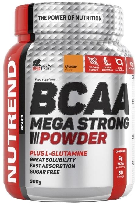 BCAA Mega Strong Powder, Orange - 500g versandkostenfrei/portofrei bestellen/kaufen