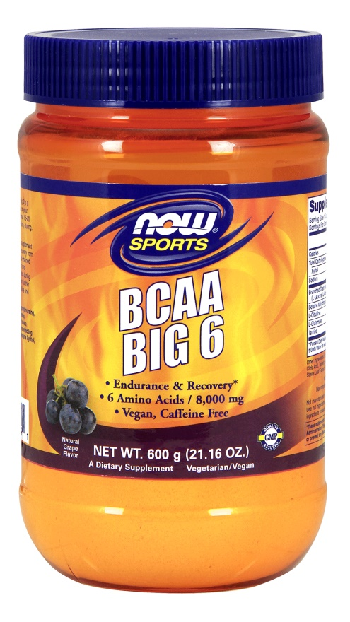 600g, 76,27 EUR/1Kg NOW Foods BCAA Big 6, Watermelon - 600g