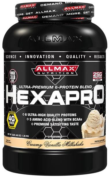 AllMax Nutrition HexaPro, Creamy Vanilla Milkshake - 1360g
