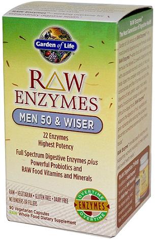 RAW Enzymes Men, 50 & Wiser - 90 vcaps versandkostenfrei/portofrei bestellen/kaufen
