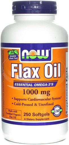 Flax Oil, 1000mg - 250 softgels versandkostenfrei/portofrei bestellen/kaufen