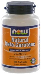 Natural Beta Carotene, 25000 IU - 180 softgels versandkostenfrei/portofrei bestellen/kaufen