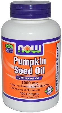 Pumpkin Seed Oil, 1000mg - 100 softgels versandkostenfrei/portofrei bestellen/kaufen