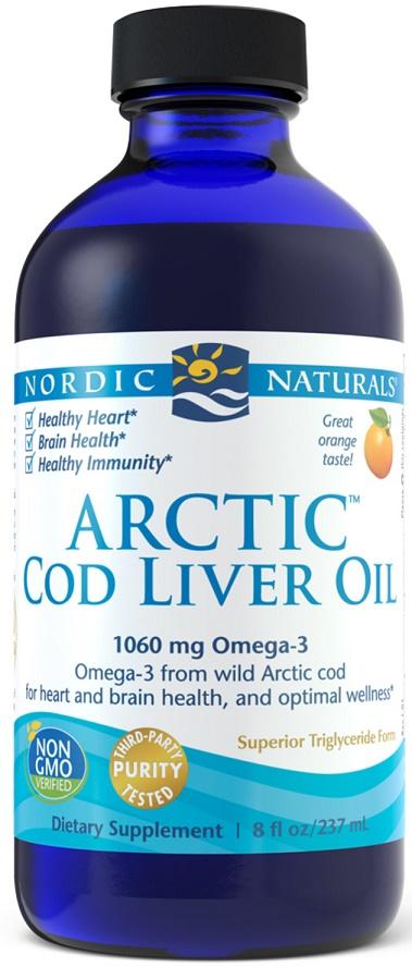 Arctic Cod Liver Oil, 1060mg Strawberry - 237 ml. versandkostenfrei/portofrei bestellen/kaufen