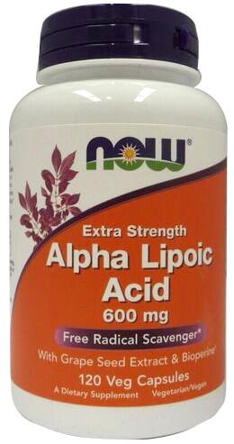 Alpha Lipoic Acid with Grape Seed Extract & Bioperine, 600mg - 120 vcaps versandkostenfrei/portofrei bestellen/kaufen