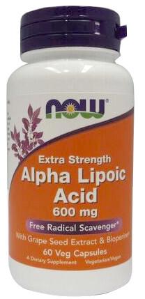 Alpha Lipoic Acid with Grape Seed Extract & Bioperine, 600mg - 60 vcaps versandkostenfrei/portofrei bestellen/kaufen