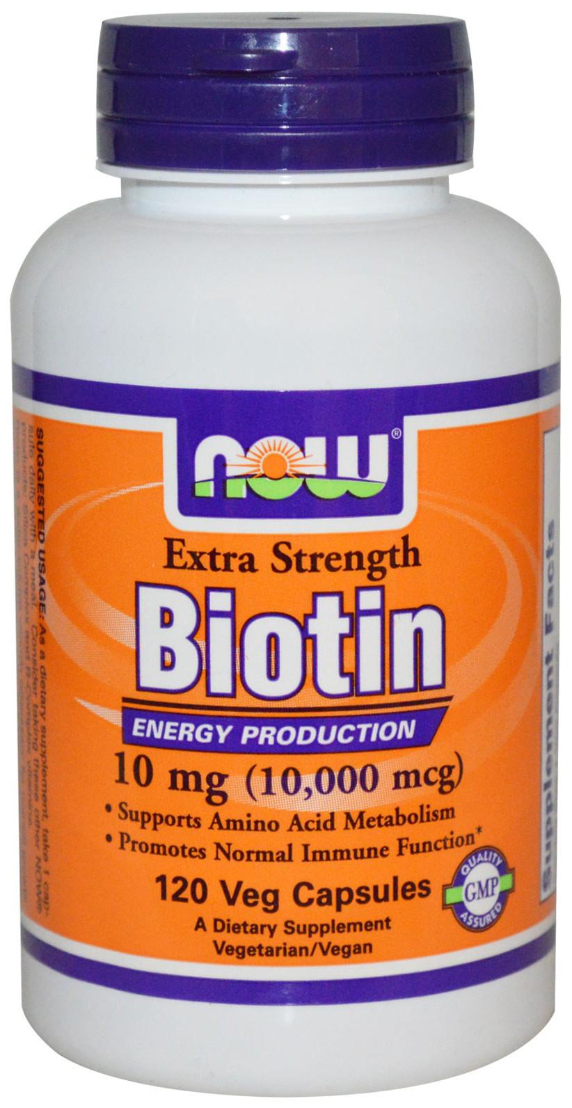 Biotin, 10mg (Extra Strength)  - 120 vcaps versandkostenfrei/portofrei bestellen/kaufen