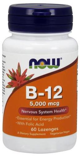 Vitamin B-12 with Folic Acid, 5000mcg - 60 lozenges versandkostenfrei/portofrei bestellen/kaufen