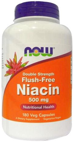 Flush-Free Niacin, 500mg - 180 vcaps versandkostenfrei/portofrei bestellen/kaufen