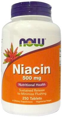 Niacin, 500mg - 250 tabs versandkostenfrei/portofrei bestellen/kaufen