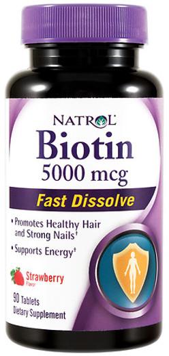 Biotin Fast Dissolve, 5000mcg (Strawberry) - 90 tabs versandkostenfrei/portofrei bestellen/kaufen