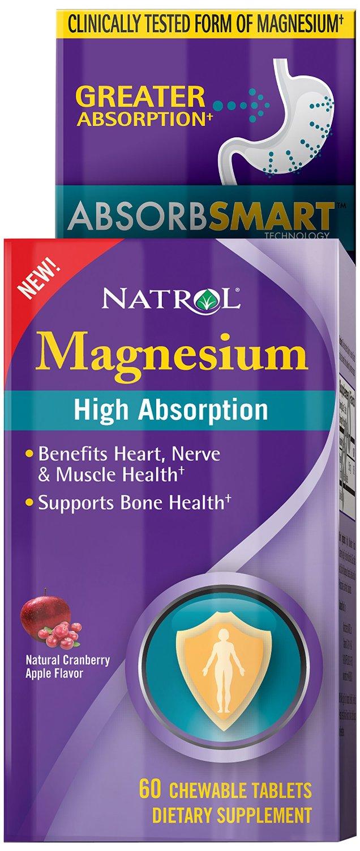 Magnesium High Absorption, Natural Cranberry Apple - 60 chewable tabs versandkostenfrei/portofrei bestellen/kaufen