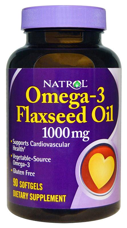 Omega-3 Flaxseed Oil, 1000mg - 90 softgels versandkostenfrei/portofrei bestellen/kaufen