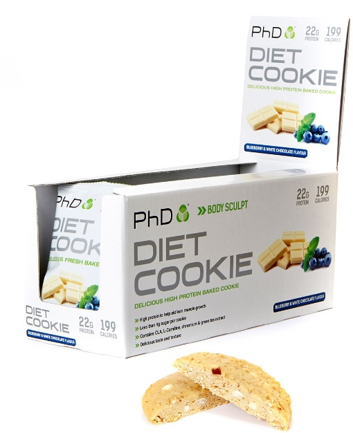 Diet Cookie, Blueberry & White Chocolate - 12 cookies versandkostenfrei/portofrei bestellen/kaufen