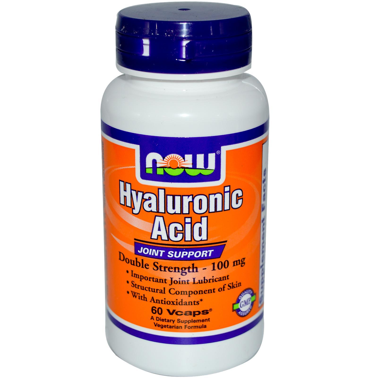 Hyaluronic Acid, 100mg (Double Strength) - 60 vcaps versandkostenfrei/portofrei bestellen/kaufen