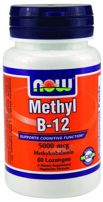 Methyl B-12 with Folic Acid, 5000mcg - 60 lozenges versandkostenfrei/portofrei bestellen/kaufen