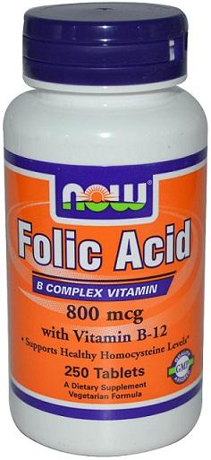 Folic Acid, 800mcg with Vitamin B12 - 250 tabs versandkostenfrei/portofrei bestellen/kaufen