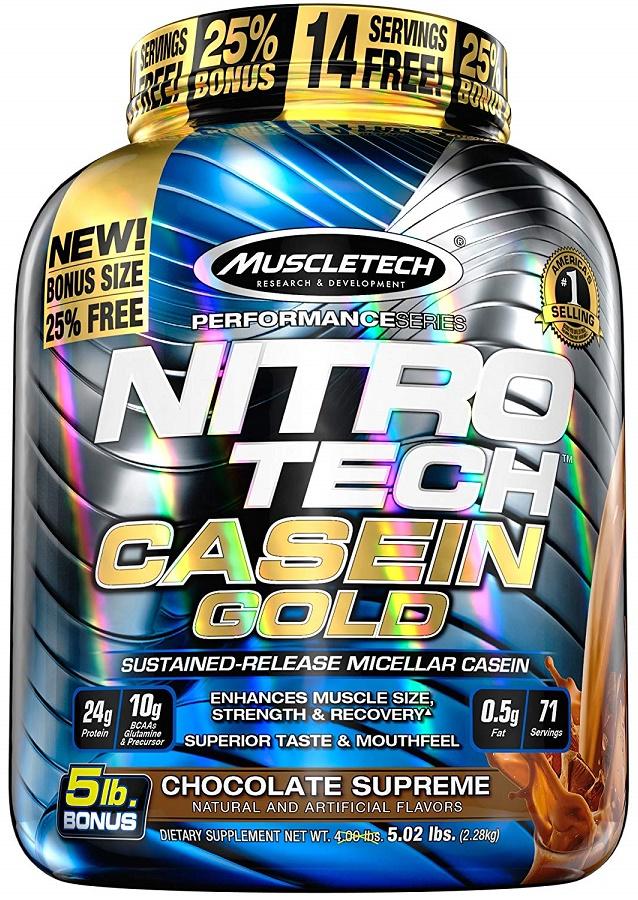 Nitro-Tech Casein Gold, Creamy Vanilla - 2290g versandkostenfrei/portofrei bestellen/kaufen