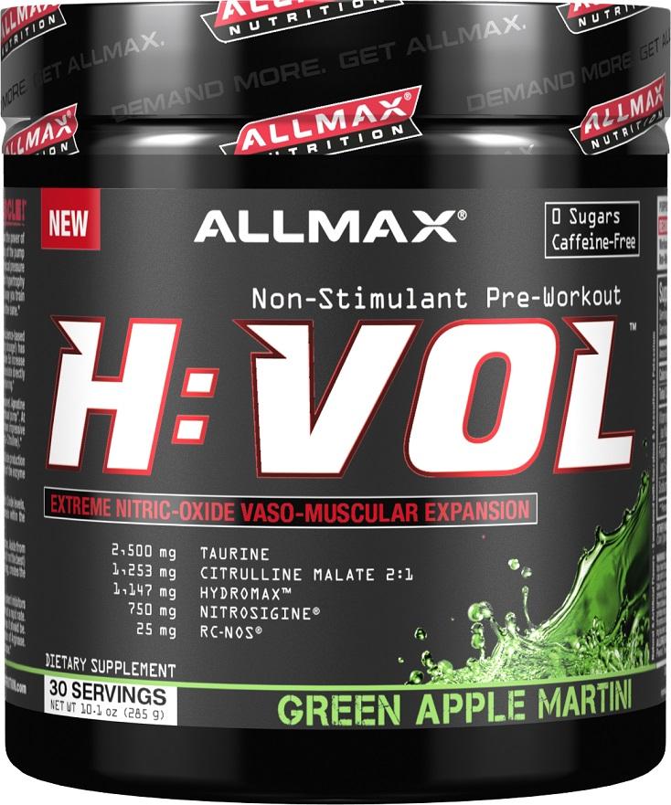AllMax Nutrition Hemanovol H:VOL Non-Stimulant, Green Apple Martini - 285g