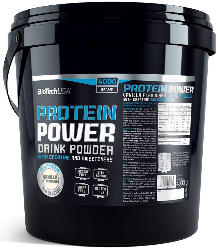 Protein Power, Vanilla - 4000g versandkostenfrei/portofrei bestellen/kaufen