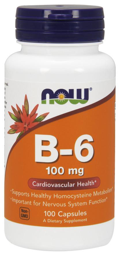 Vitamin B-6, 100mg - 100 caps versandkostenfrei/portofrei bestellen/kaufen