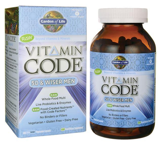 Vitamin Code 50 & Wiser Men - 240 vcaps versandkostenfrei/portofrei bestellen/kaufen