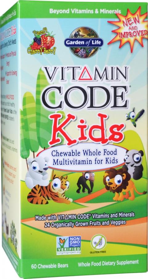 Vitamin Code Kids, Chewable Whole Food Multivitamin For Kids - 60 chewable bears versandkostenfrei/portofrei bestellen/kaufen
