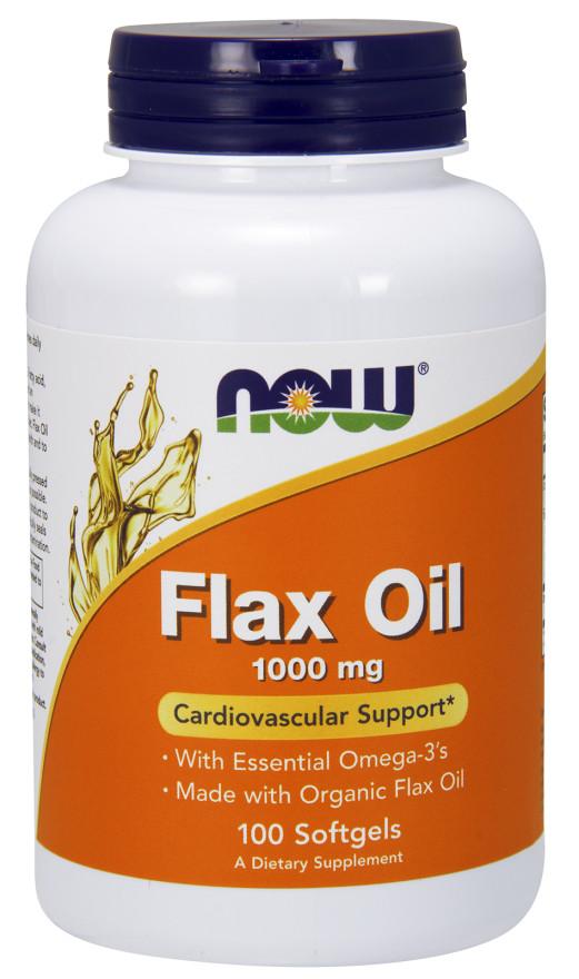 Flax Oil, 1000mg - 100 softgels versandkostenfrei/portofrei bestellen/kaufen