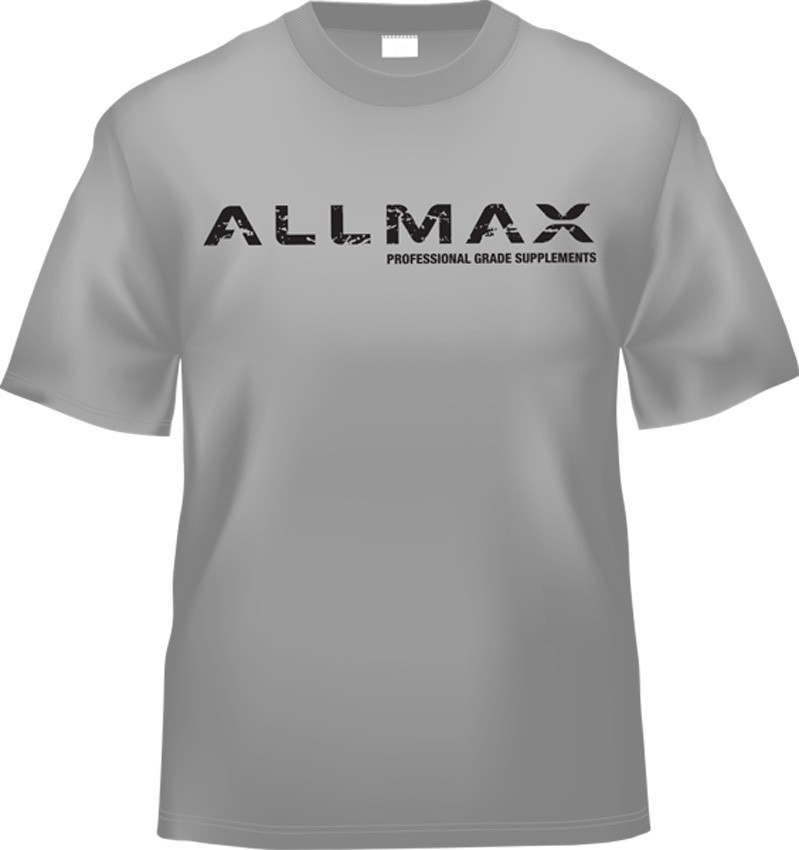 AllMax Nutrition AllMax Nutrition T-Shirt, Grey - Large