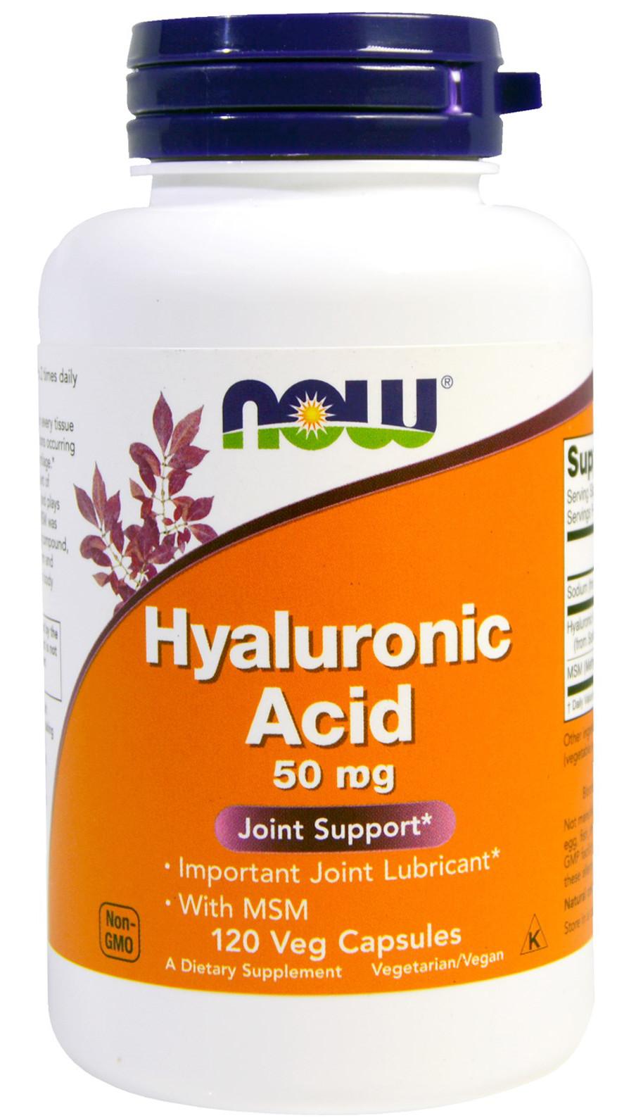 Hyaluronic Acid with MSM, 50mg - 120 vcaps versandkostenfrei/portofrei bestellen/kaufen