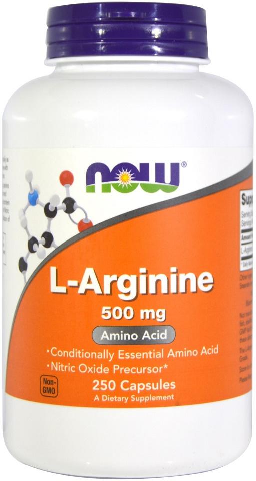 L-Arginine, 500mg - 250 caps versandkostenfrei/portofrei bestellen/kaufen