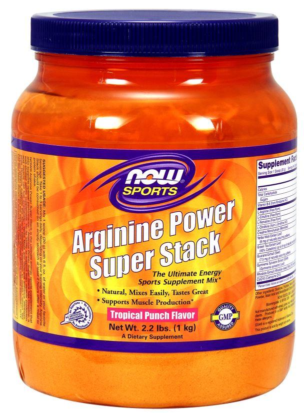 Arginine Power Super Stack, Tropical Punch - 1000g versandkostenfrei/portofrei bestellen/kaufen