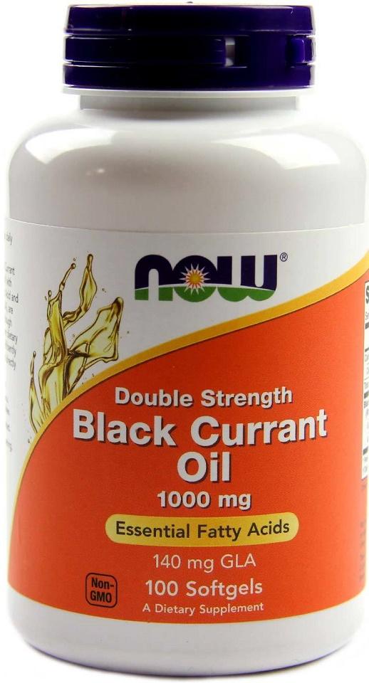 Black Currant Oil, 1000mg (Double Strength) - 100 softgels versandkostenfrei/portofrei bestellen/kaufen