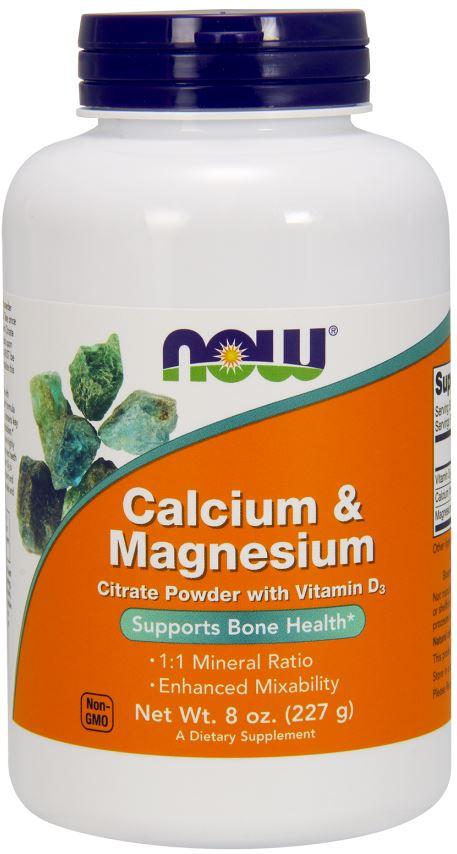 Calcium & Magnesium, Citrate Powder with Vitamin D3 - 227g versandkostenfrei/portofrei bestellen/kaufen