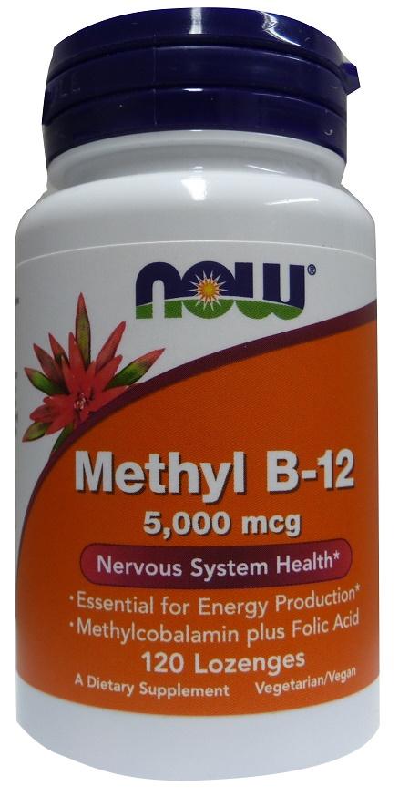 Methyl B-12 with Folic Acid, 5000mcg - 120 lozenges versandkostenfrei/portofrei bestellen/kaufen