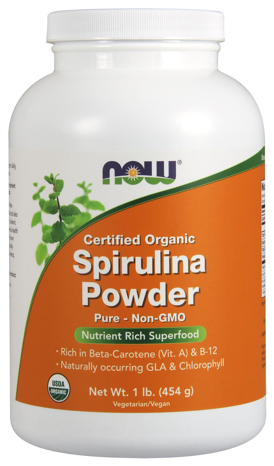 Spirulina Certified Organic, Powder - 454g versandkostenfrei/portofrei bestellen/kaufen