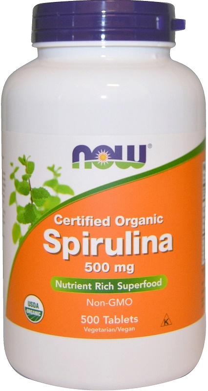 Spirulina Certified Organic, 500mg - 500 tabs versandkostenfrei/portofrei bestellen/kaufen