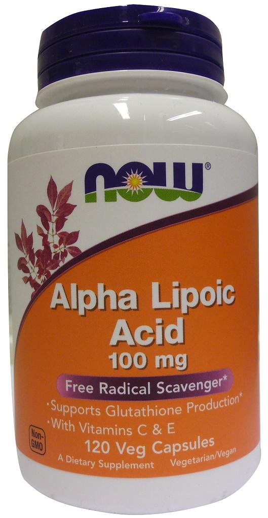 Alpha Lipolic Acid, 100mg with Vitamins C & E - 120 vcaps versandkostenfrei/portofrei bestellen/kaufen