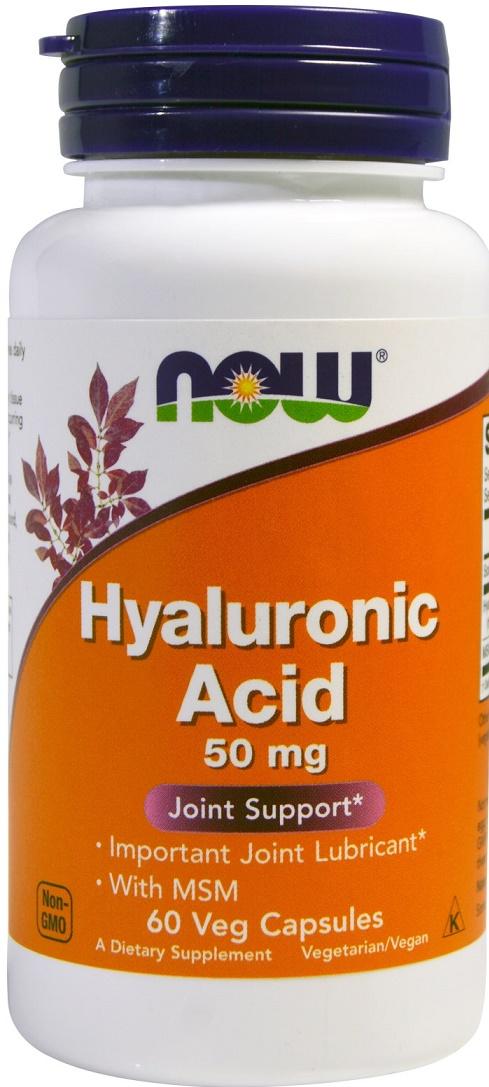 Hyaluronic Acid with MSM, 50mg - 60 vcaps versandkostenfrei/portofrei bestellen/kaufen