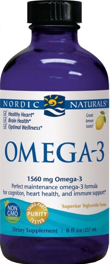Omega-3, 1560mg Lemon - 237 ml. versandkostenfrei/portofrei bestellen/kaufen