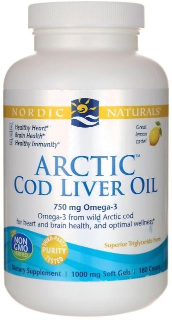Arctic Cod Liver Oil, 750mg Lemon - 90 softgels versandkostenfrei/portofrei bestellen/kaufen