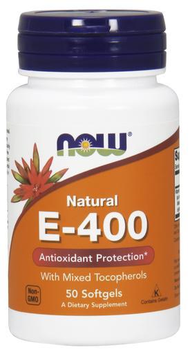Vitamin E-400, Natural (Mixed Tocopherols) - 50 softgels versandkostenfrei/portofrei bestellen/kaufen
