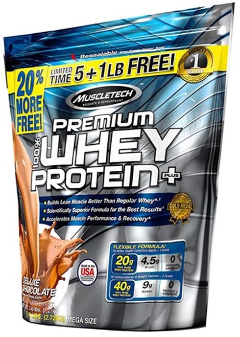 Premium Whey Protein Plus, Chocolate (Bonus Size) - 2720g versandkostenfrei/portofrei bestellen/kaufen