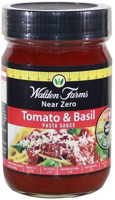 360 g, 21,06 eur/1kg Walden Walden Walden Farms pâtes sauce, Tomato & Basil - 360 g 090989