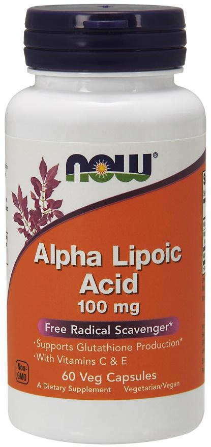 Alpha Lipolic Acid, 100mg with Vitamins C & E - 60 vcaps versandkostenfrei/portofrei bestellen/kaufen