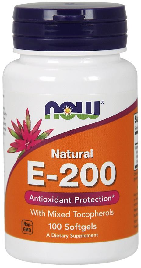 Vitamin E-200, Natural (Mixed Tocopherols) - 100 softgels versandkostenfrei/portofrei bestellen/kaufen